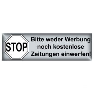 Briefkasten Aufkleber Bestellen by Keine Werbung Einwerfen Online Bestellen Bei Yatego