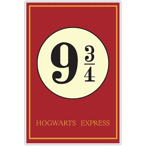 How To Hang A Picture Frame by Hogwarts Express Harry Potter 9 3 4 Movie Poster Ebay