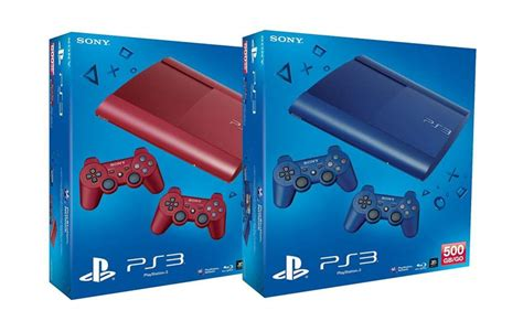 ps3 colors sony announces ps3 slim in and blue color for europe