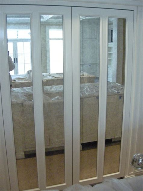Closet Door With Mirror Folding Doors Mirror Folding Doors For Closets