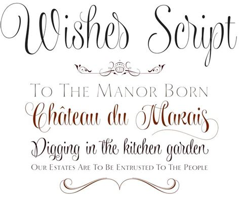 typography script wishes script font sle crafts