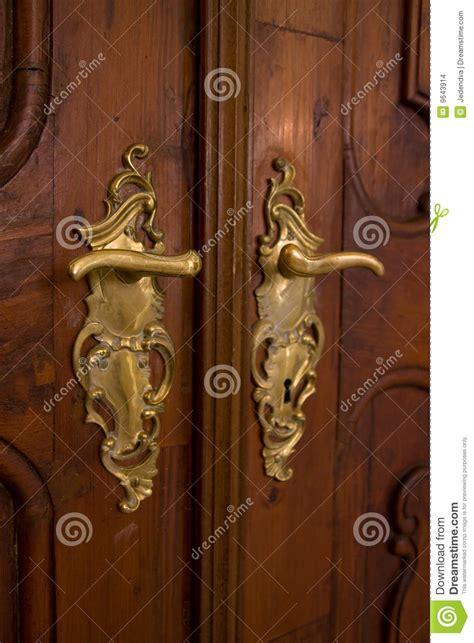 classic door handle stock photo image  indoor ornament