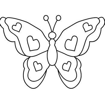 coloring pages of butterflies and hearts dibujos de mariposas para colorear
