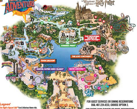 universal studios orlando map universal studio s islands of adventure