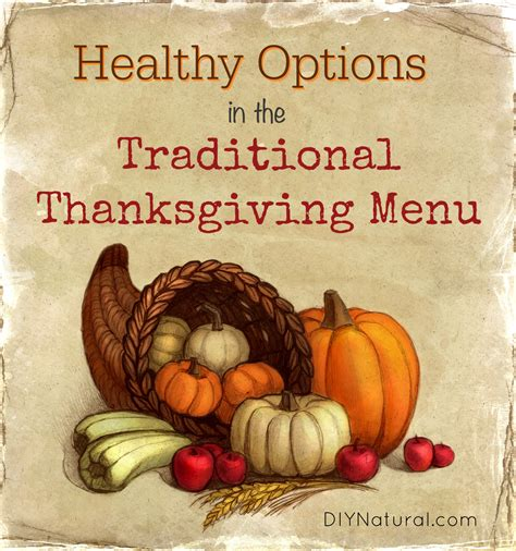 healthy options in the traditional thanksgiving menu