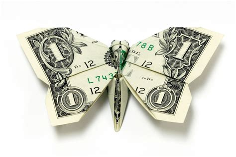 Origami Dollar Bill Butterfly - amazing origami using only dollar bills 171 twistedsifter