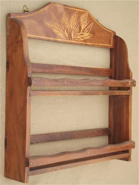Wheat Shelf by Vintage Kitchen Spice Rack Carved Wheat Wall Shelf W