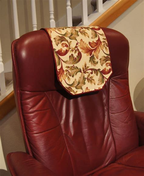 recliner chair headrest covers recliner chair headrest cover burgundy floral chair by