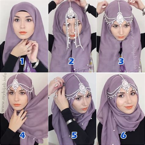 4 tutorial berjilbab modern elegan style stylish easy hijab styles 2017 step by step tutorials 4