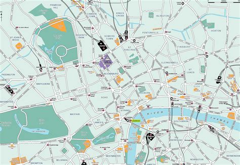 printable map london city centre london map detailed city and metro maps of london for