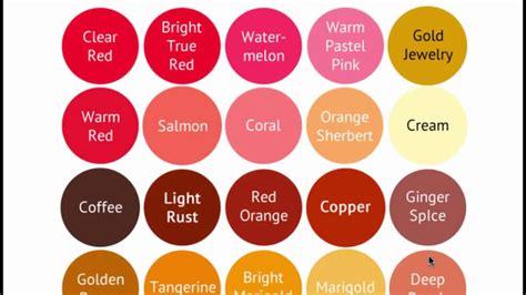 warm colors palette warm color palette seasonal color analysis