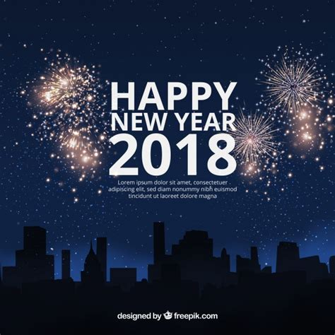 new year 2018 raleigh nc 寘 flat new year 2018 background with fireworks