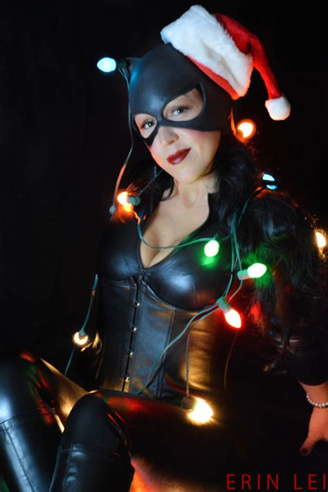 catwoman holiday shoot