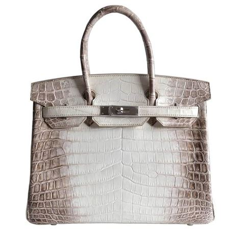 Exclusive The Colorful Valentino Crocodile Handbags by Herm 232 S Birkin 30 Himalayan Niloticus Crocodile Bag