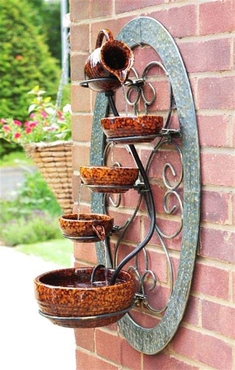 cm tortoise shell wall mounted cascade water feature