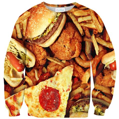 junk food junk food sweater shelfies all over print everywhere