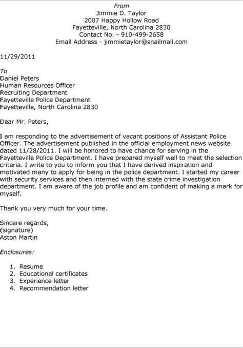 Sample Police Officer Cover Letter – Sample cover letter for resume in customer service : Fresh