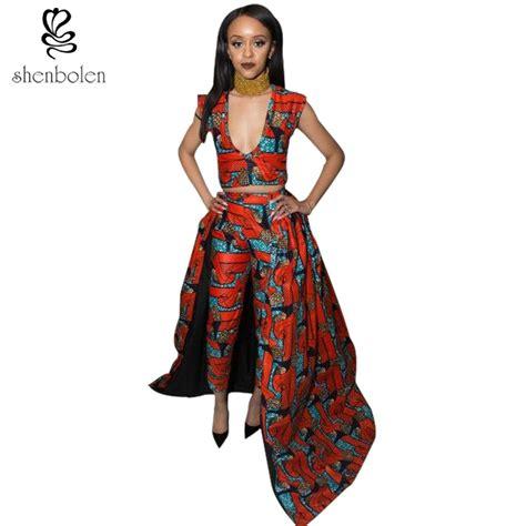 Dress Batik Set 2018 autumn dresses for ankara clothing sets