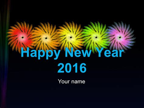 Happy New Year Welcome To 2016 Powerpoint Template New Year Powerpoint