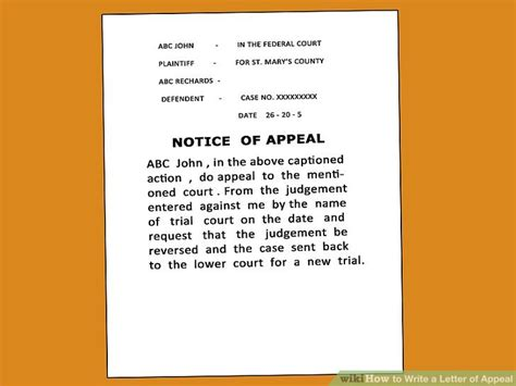 how to write a letter of appeal how to write a letter of appeal 12 steps with pictures