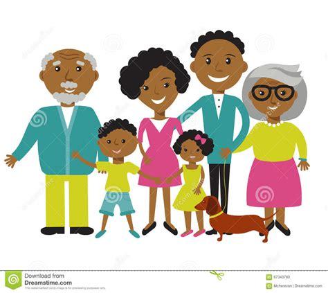 imagenes de la familia brief miembros afroamericanos felices de la familia de cuatro
