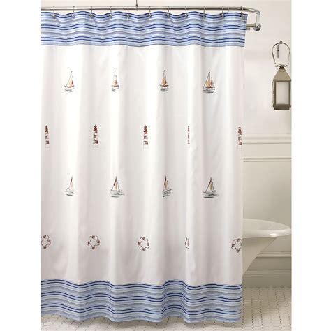 nautical themed shower curtains shower curtains nautical curtains drapes
