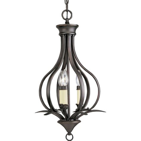 Pendant Light Bronze Progress Lighting Collection 3 Light Antique Bronze Pendant P3807 20 The Home Depot