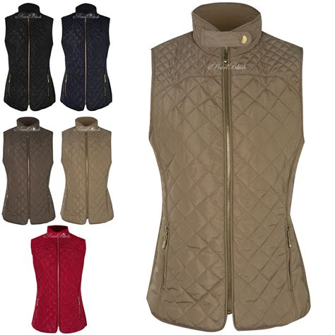 Quilted Waistcoats by Womens Gilet Quilted Bodywarmer Waistcoat Zip