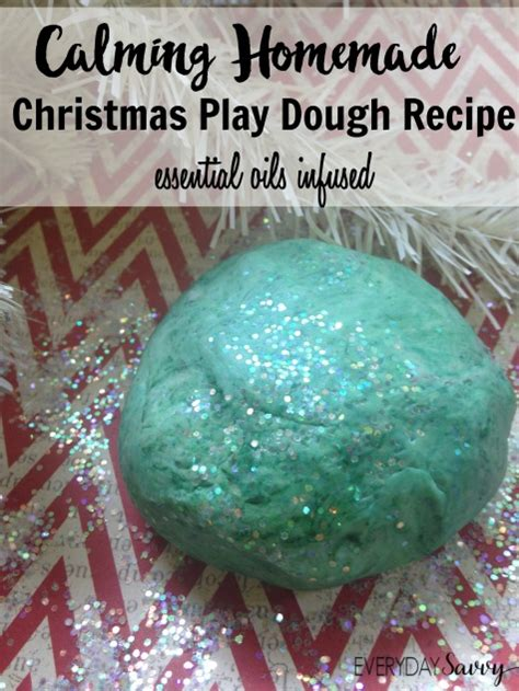 calming homemade christmas play dough recipe