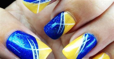 San Diego Chargers Nail Designs