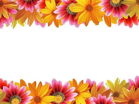 花の写真 フリー素材 フレーム枠no 050 上下 Colorful Floral Powerpoint Templates Flowers Orange