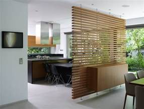 creative room dividers wooden room divider design beside the modern open kitchen dining room