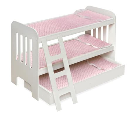 american girl doll bunk beds bunk trundle bed for american girl doll just 39 shipped from amazon