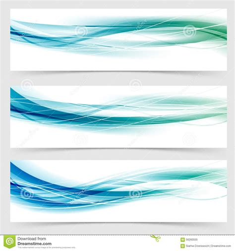 modern abstract green blue line header collection stock