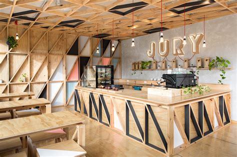 lada da incasso controsoffitto jury cafe by biasol design studio constructed from a mix