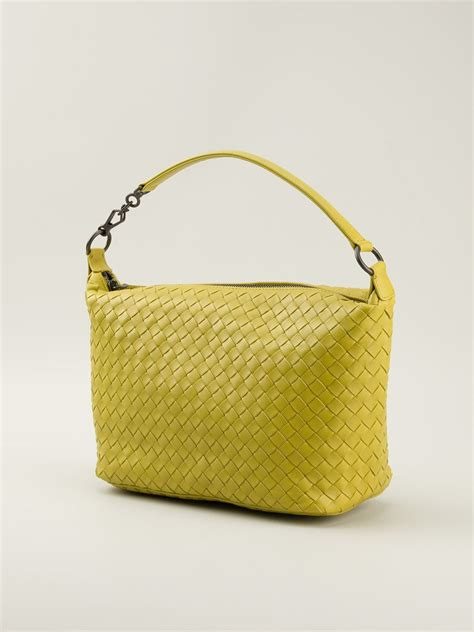Bottega Veneta Medium Canvas Handbag by Lyst Bottega Veneta Medium Intrecciato Tote In Yellow