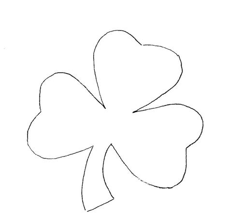 printable shamrock template shamrock coloring pages coloring