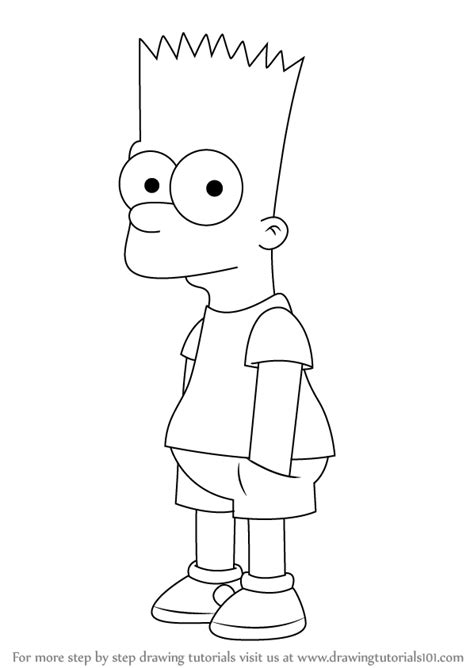 How To Draw The Simpsons On The learn how to draw bart from the simpsons the
