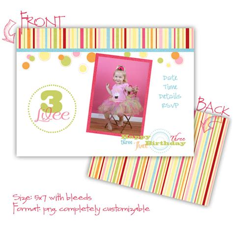 5x7 Birthday Card Template by For The Of All Things Digital Freebie Birthday