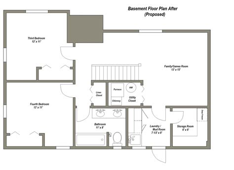 house floor plans with basement four common basement design plans to consider thats my