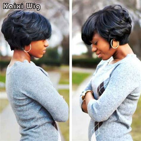 short wig styles for black women african american short black curly wigs for women cheap synthetic wigs for black
