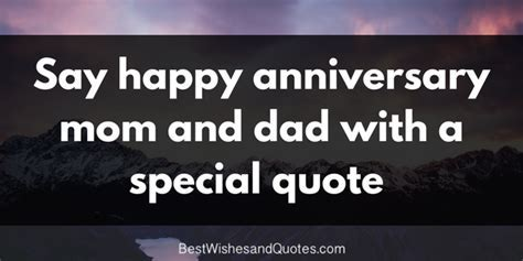 'Happy Anniversary, Mom and Dad'   The Best Heartfelt Quotes
