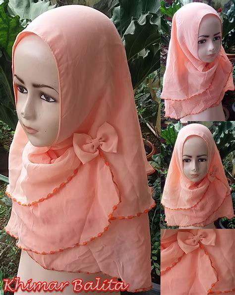 Jilbab Balita Anak Kb11 khimar balita sentral grosir jilbab kerudung i supplier jilbab i retail grosir jilbab
