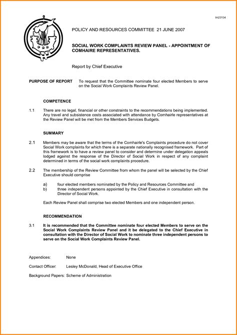 sle committee report committee report template 28 images sle committee