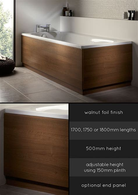 bathtub side panel wooden bath panels wood bath panel walnut bath side panel