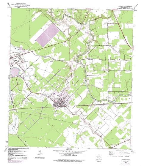 map of sweeny texas sweeny topographic map tx usgs topo 29095a6