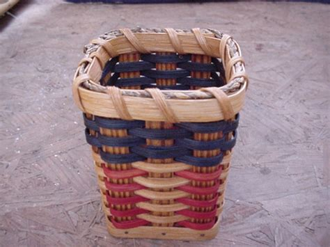 Handmade Work At Home - amish woven country pen and pencil basket