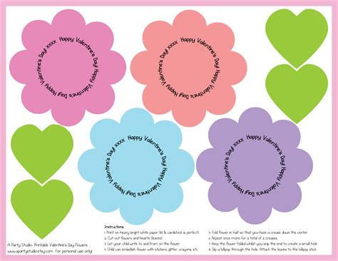 printable flowers valentine cards valentine s day lollipop flowers with free printables a