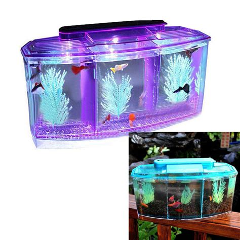 Crystal Shrimp Bettas Fish Tank Aquarium With Led Light