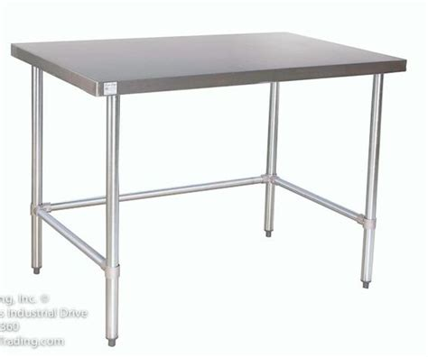 Stainless Steel Kitchen Work Tables by Counter Height Stainless Steel Prep Tables Stainless